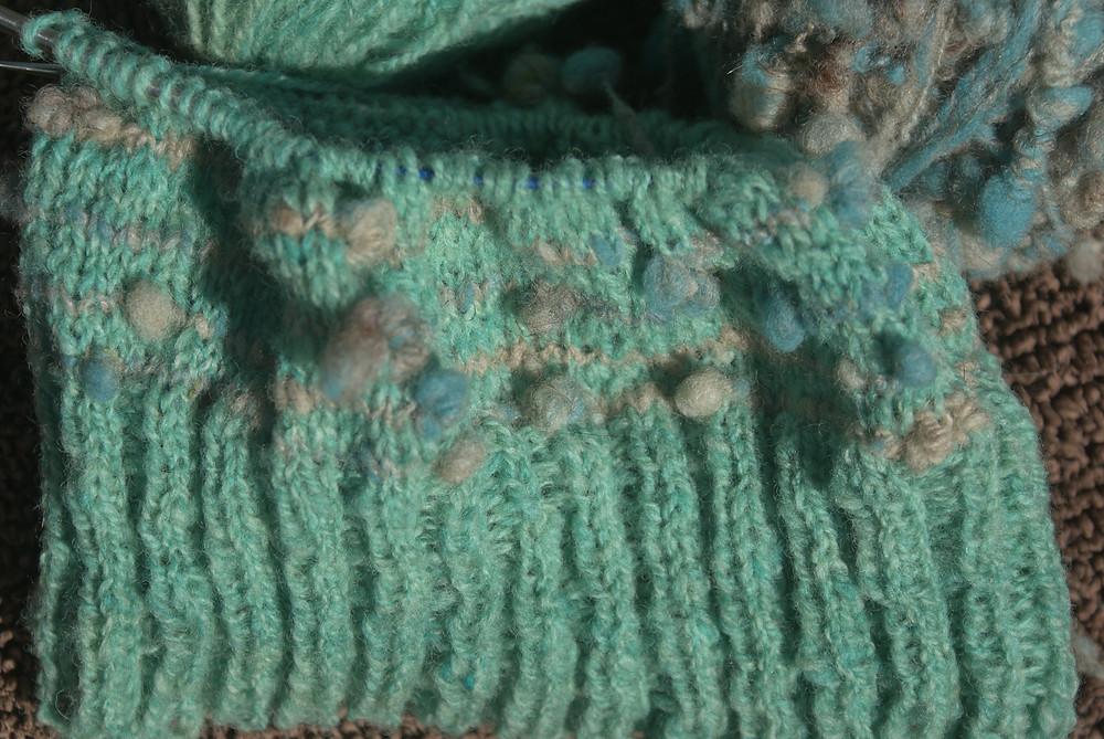 ile de France verte tricotée