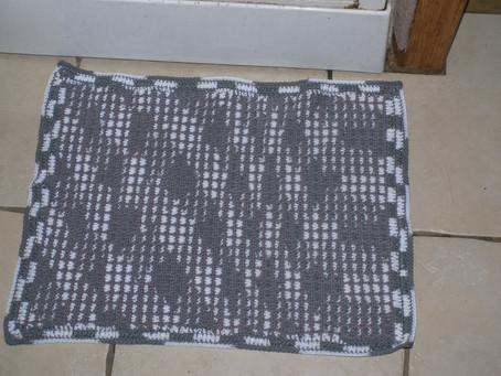 Sortie de douche en crochet mosaic