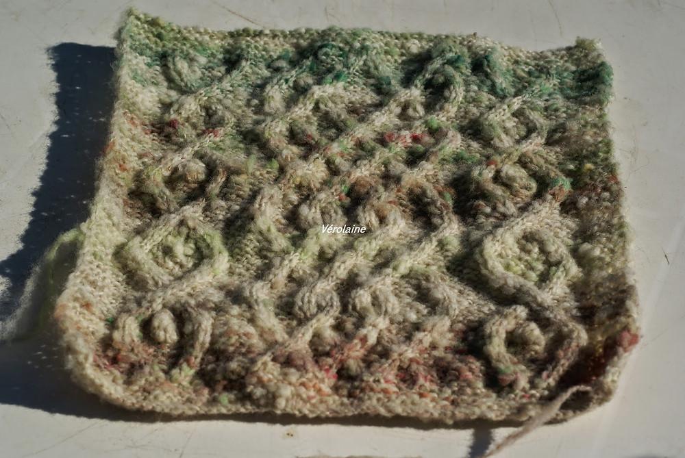 carré afghan motif celte