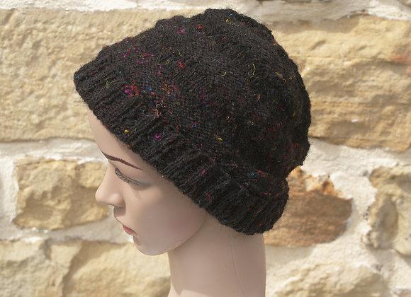 Bonnet 100 % laine noire d'Ouessant