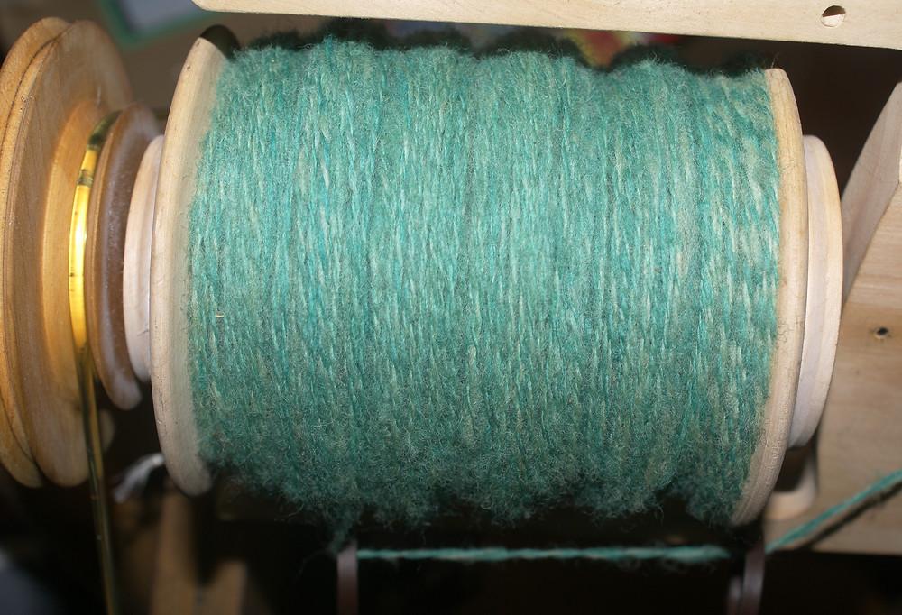 retors deux brins laine de pays verte