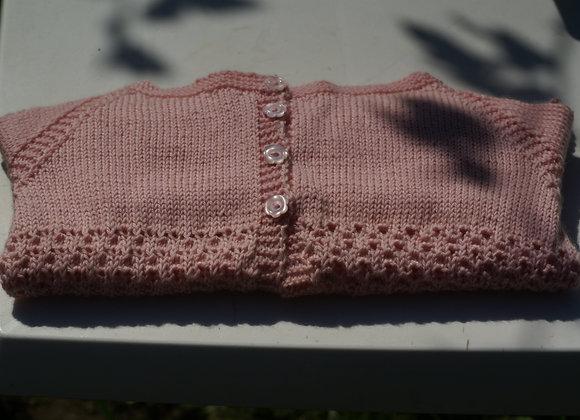Gilet fillette 24/36 mois rose tendre