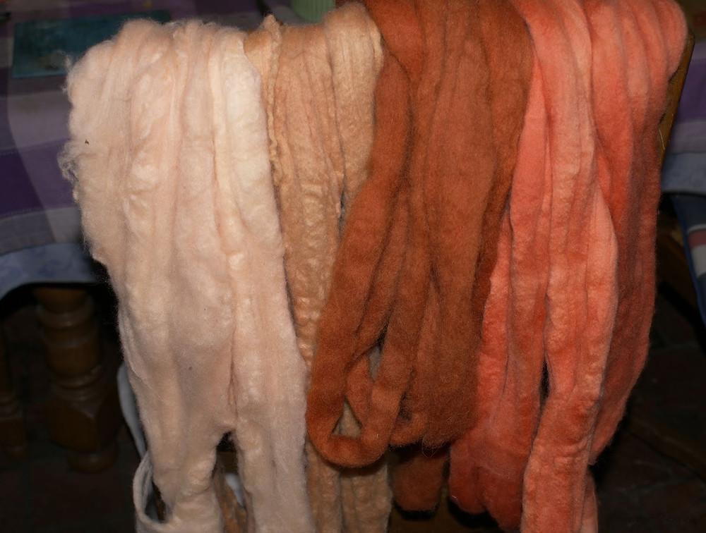 palette de couleurs mérinos teinté garance