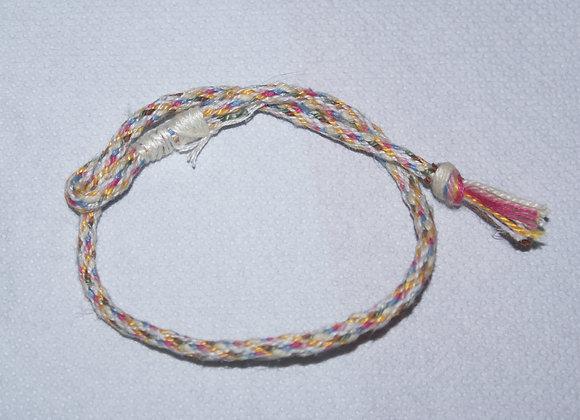 Bracelet cordon tissage japonais six couleurs