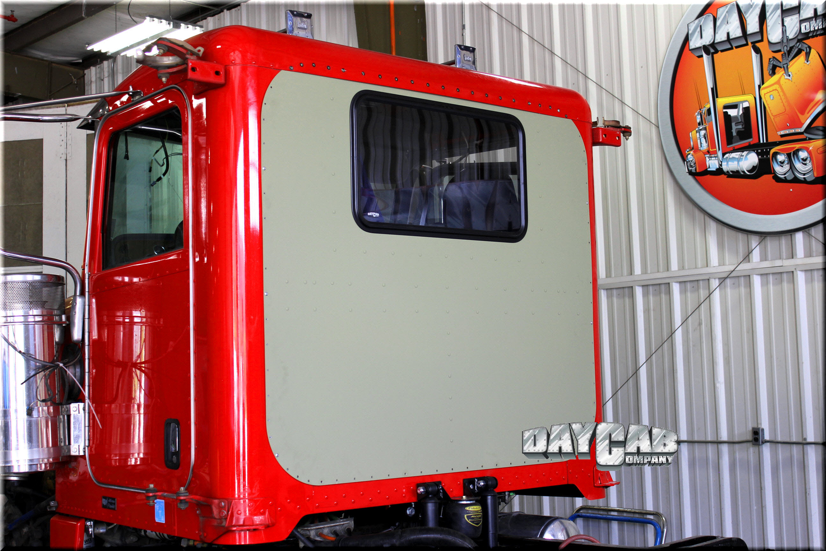 Peterbilt Unibilt Red Day Cab Conversion