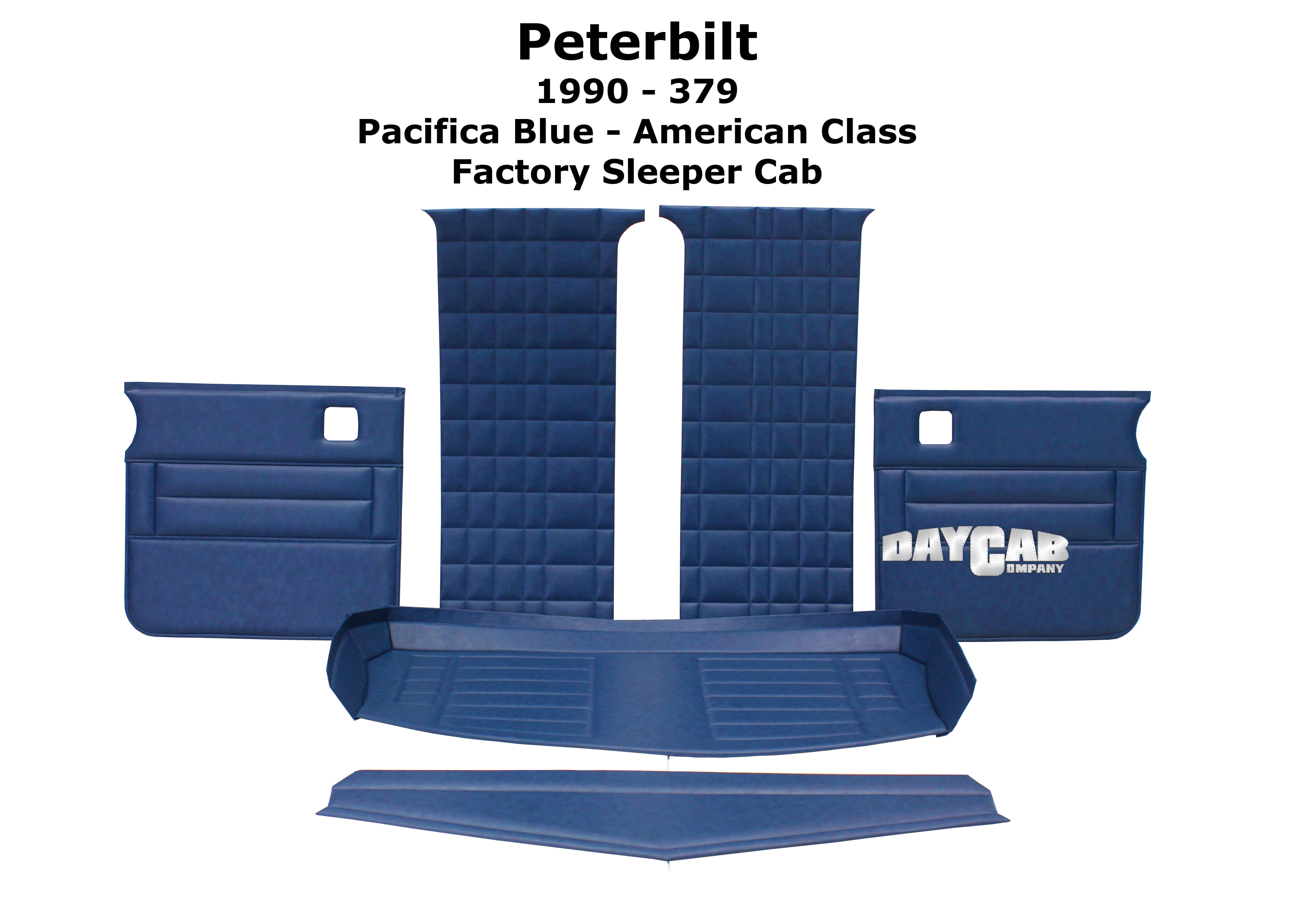 Peterbilt 1990 379 Sleeper Cab Upholstery Kit