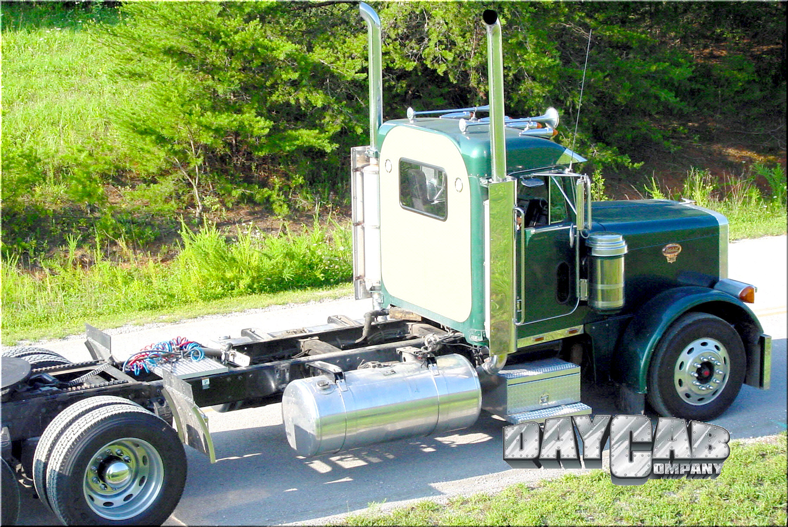 Peterbilt Ultracab Day Cab Conversion Green.