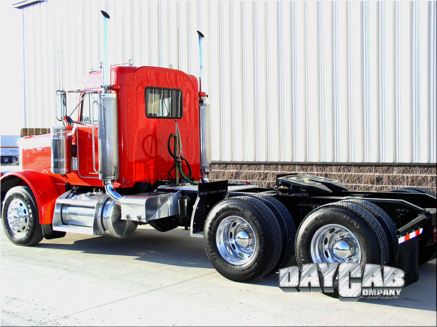 Peterbilt Ultracab Day Cab Conversion Red