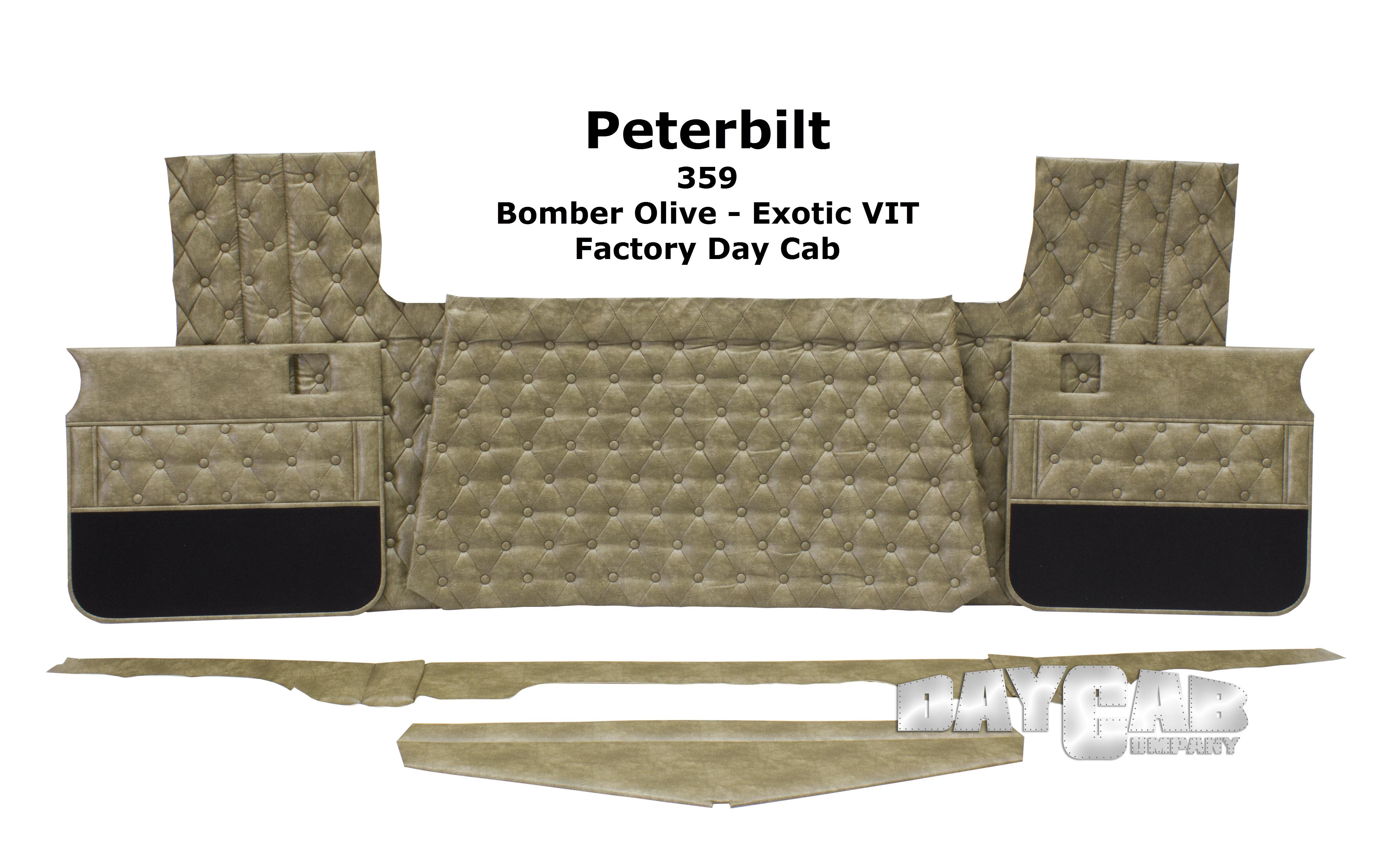 Peterbilt 359 Day Cab Bomber Olive VIT