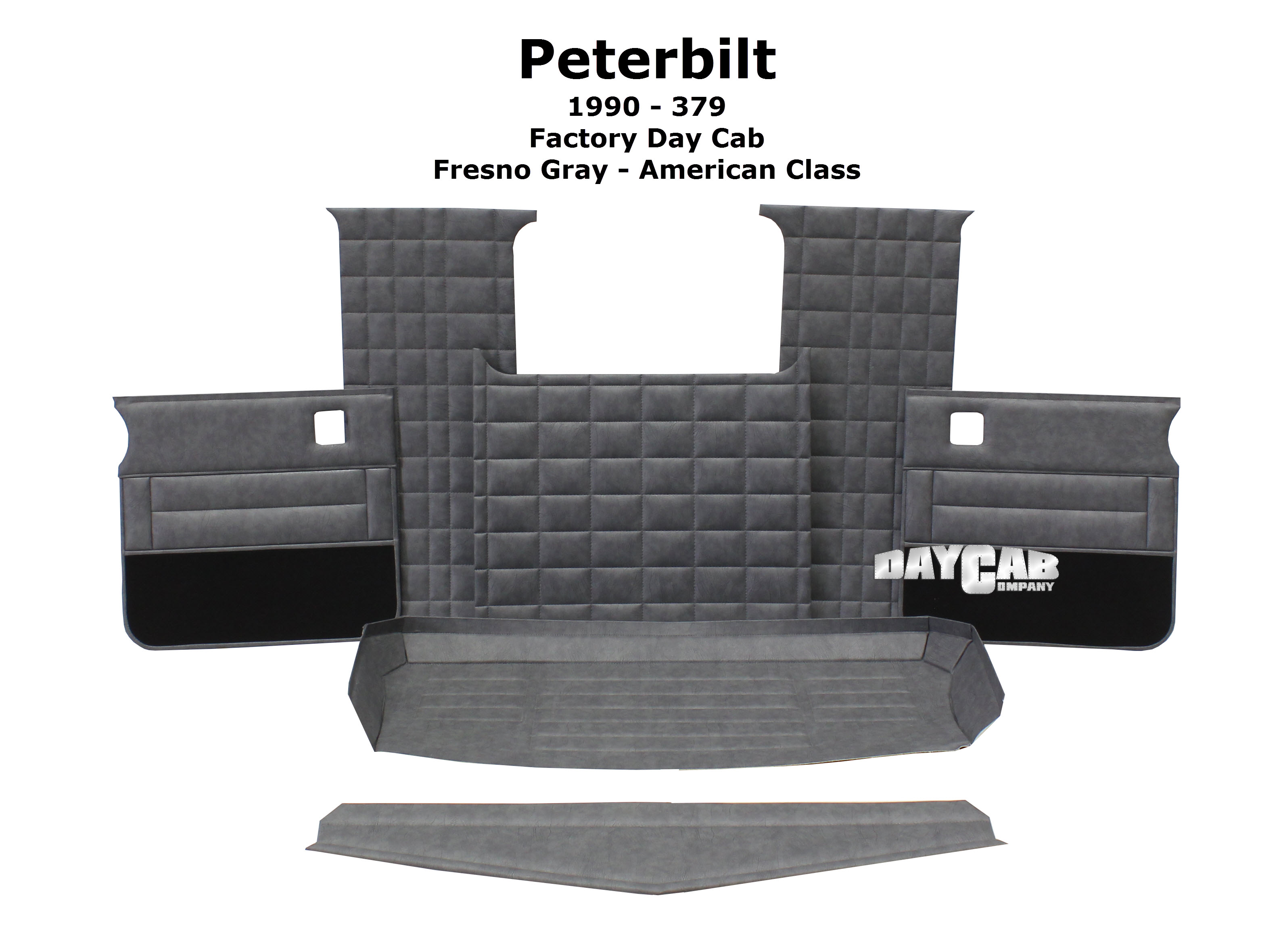 Peterbilt 1990 379 Factory Day Cab Fresno Gray American Class Upholstery Kit