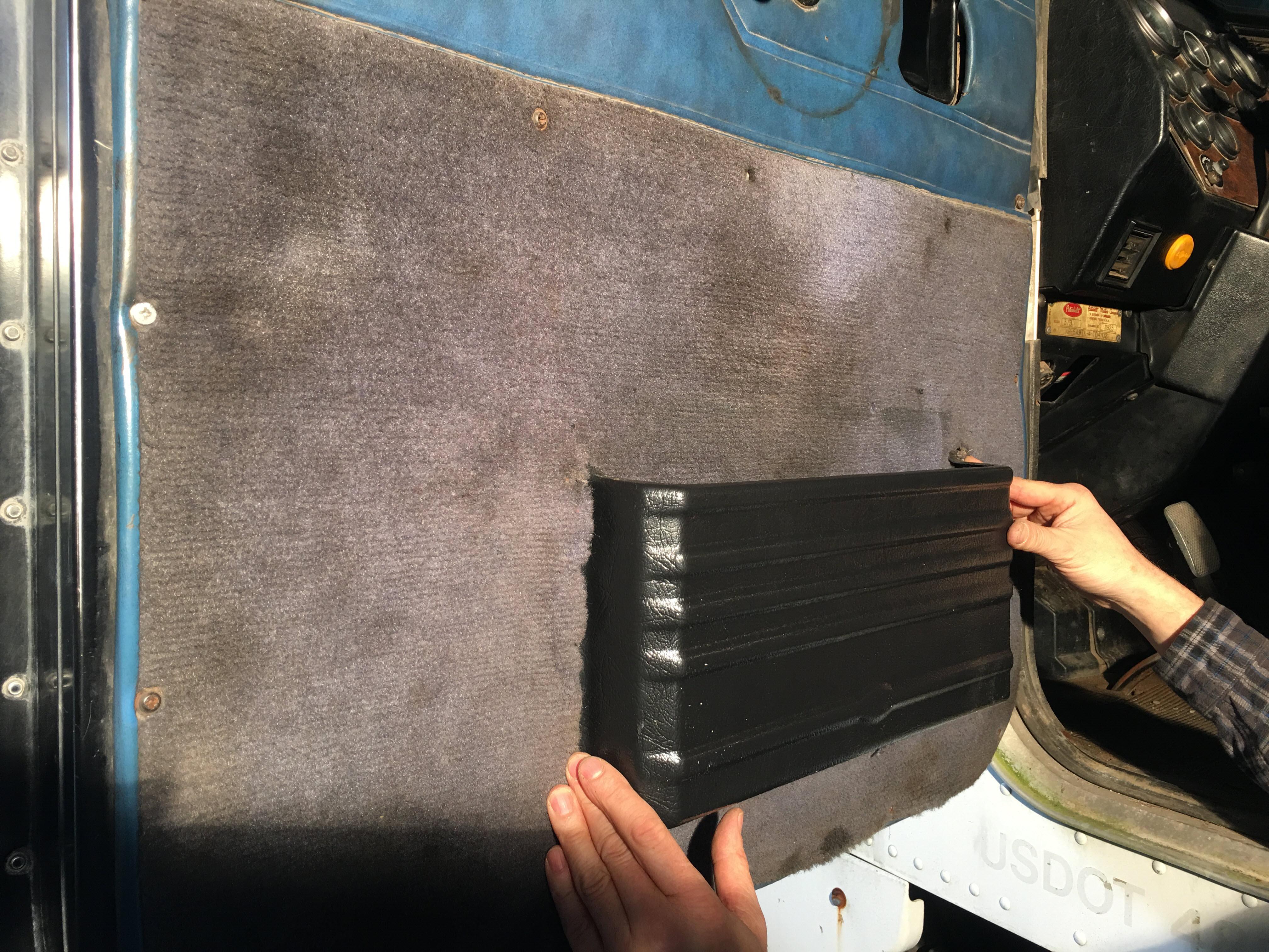 Peterbilt Door Pocket Installing