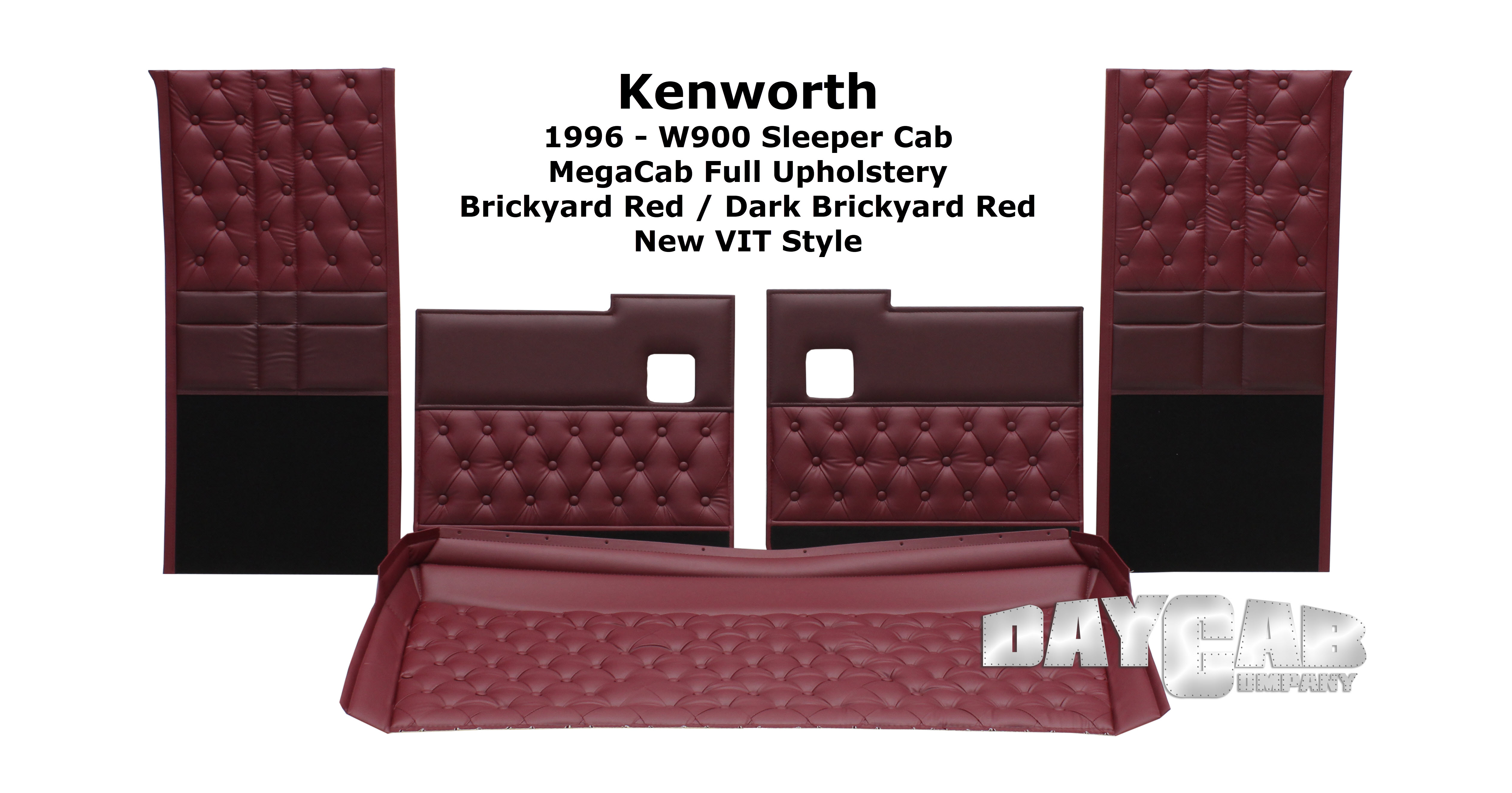 Kenworth W900 Interior Upholstery Kit - Daycab Company