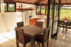 View of indoor dining table and views to