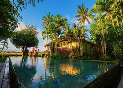View of Infinity Pool and the Villa
