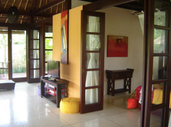 Living area with entry to the bedroom