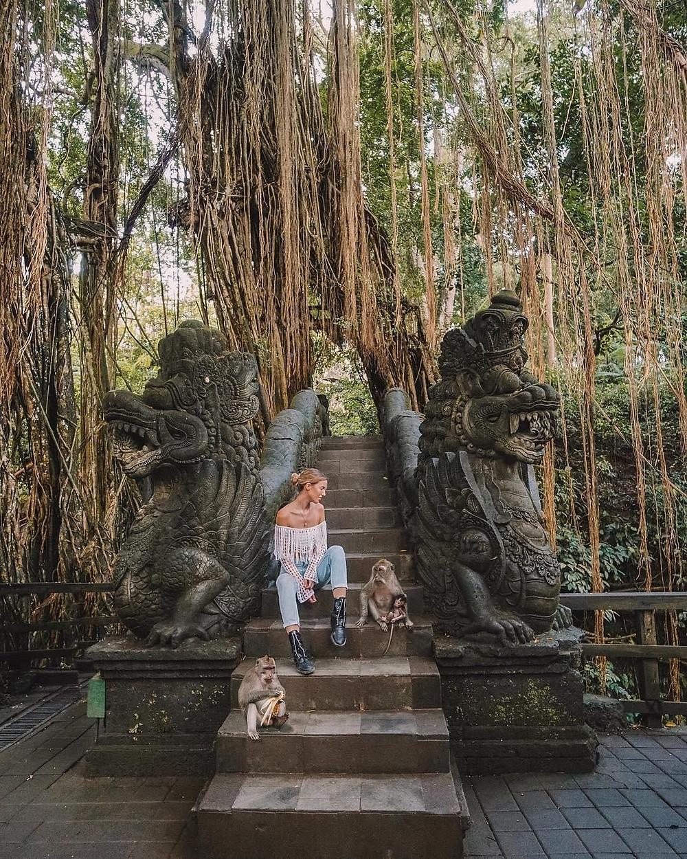Sacred monkey forest close to Ubud villa