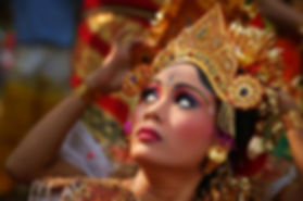 Balinese dancers showing why houses for sale are sold in Bali