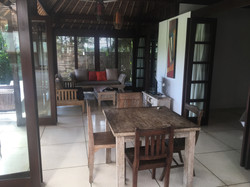 View of Living area, TV,  dining table a