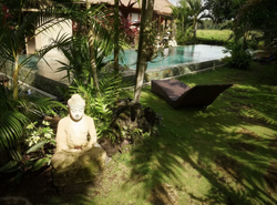 Shared pool with resting area