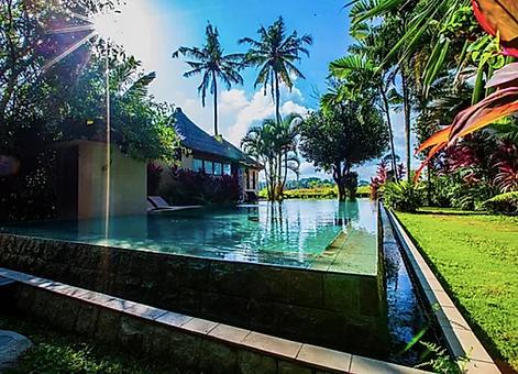 Bali Real Estate Villas - Pearl Villa View of Infinity Pool