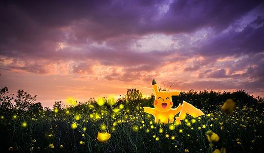 Pikachu POkemon Digital Art Photographie Painting Photoshop