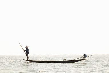 Art Photographie Myanmar Bateau Peche