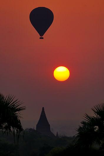 Myanmar Paysage Birmanie Soleil Art Photographie