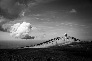 Mont Ventoux France Provence Sud Nuages Noir Blanc