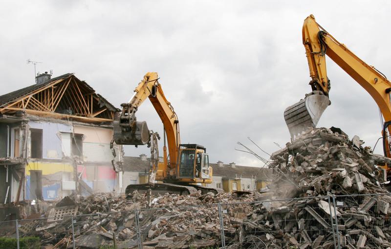 Demolição concentrada