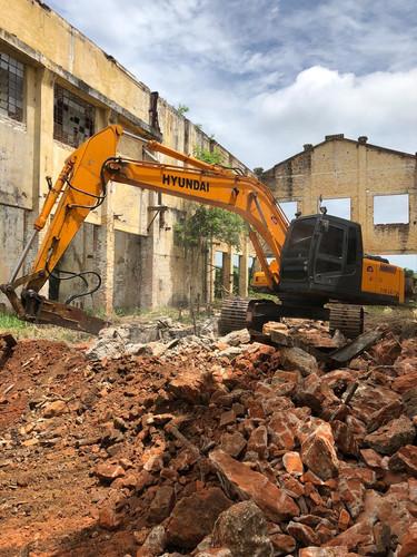Demolição de estrutura subterrânea