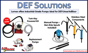 Lumax DEF Solutions, DEF Urea AdBlue Pumps
