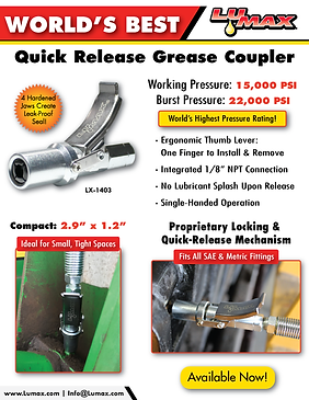 LX-1403 Worlds Best Quick Release Grease Coupler