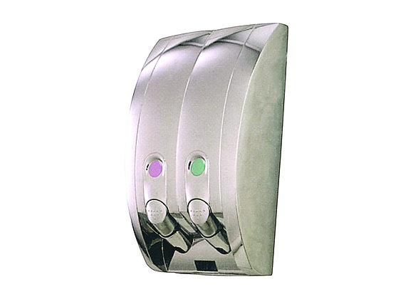 Curv Liquid Soap Dispenser, Chrome polished, 400ml x 2