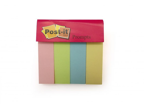"Post-it Prompts 0.75"" x 3"" x 4 colors x 50 sheets"