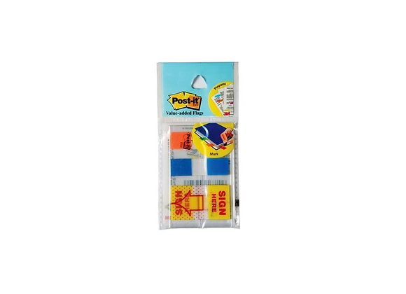 Post-it Value Added Flags 12.5mm X 43.7mm X 2 Colors X 10 pulls + Sign Here
