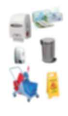 Dustbins, Paper Dispenser, Soap dispenser