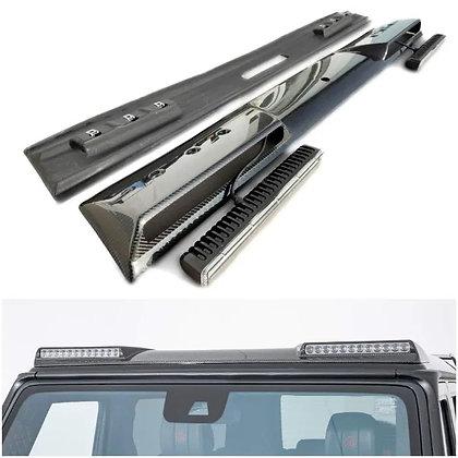 Brabus carbon fiber front roof spoiler w463 led