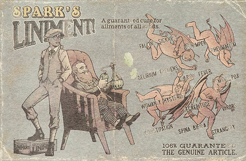 Aldous Spark Coded Poster: Spark's Liniment