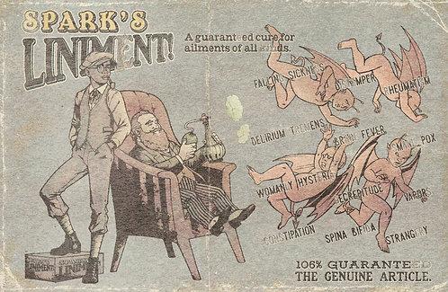 Aldous Spark Coded Poster: Spark's Liniment
