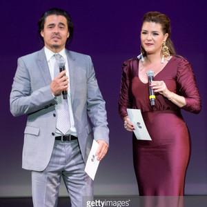 AWARD PRESENTERS  Antonio Jarmillo & Alicia Machado