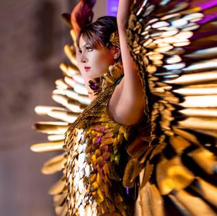 GOLD BIRD 2019 DESIGNER: Inoe Vargas  MODEL: Gabrielle Diaz  PHOTO: James Giovanni Pan