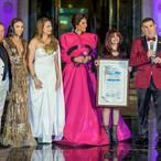 Eva Bitar presenting Metropolitan Fashion Week Proclamation to MetroFW Team Los Angeles City Hall 2019