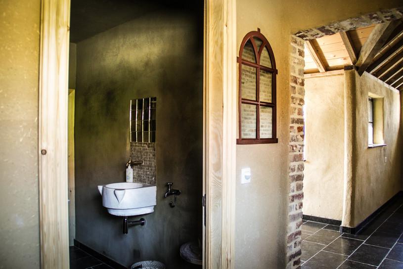 inkom en toiletten vakantiewoning
