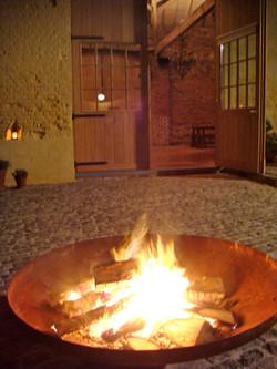vuurschaal binnenkoer