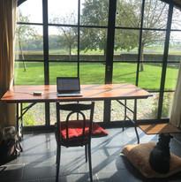 Een rustige werk- of schrijfplek