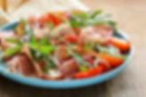 Salat mit Schinken