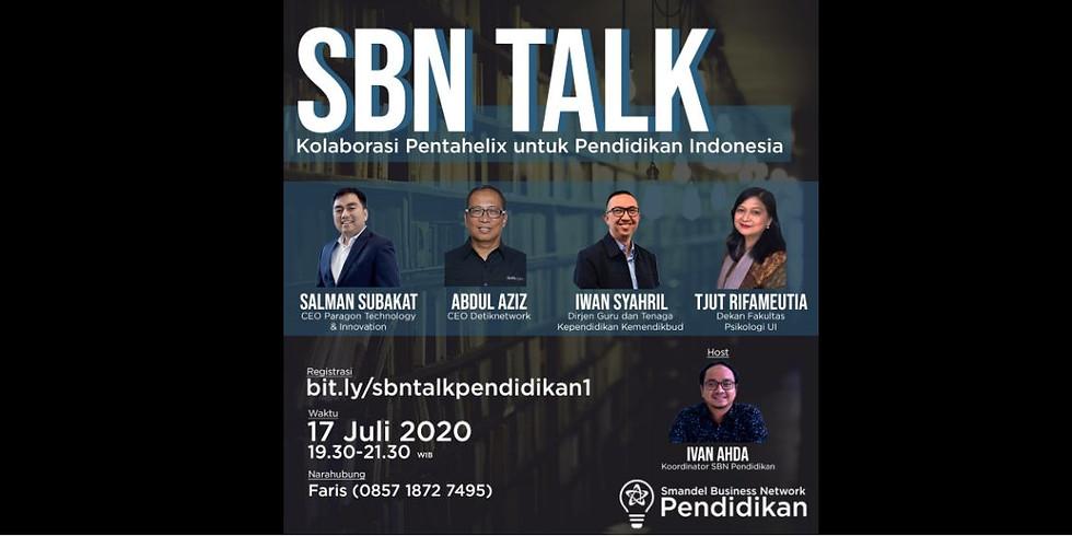 SBN Talk: Kolaborasi Pentahelix untuk Pendidikan Indonesia