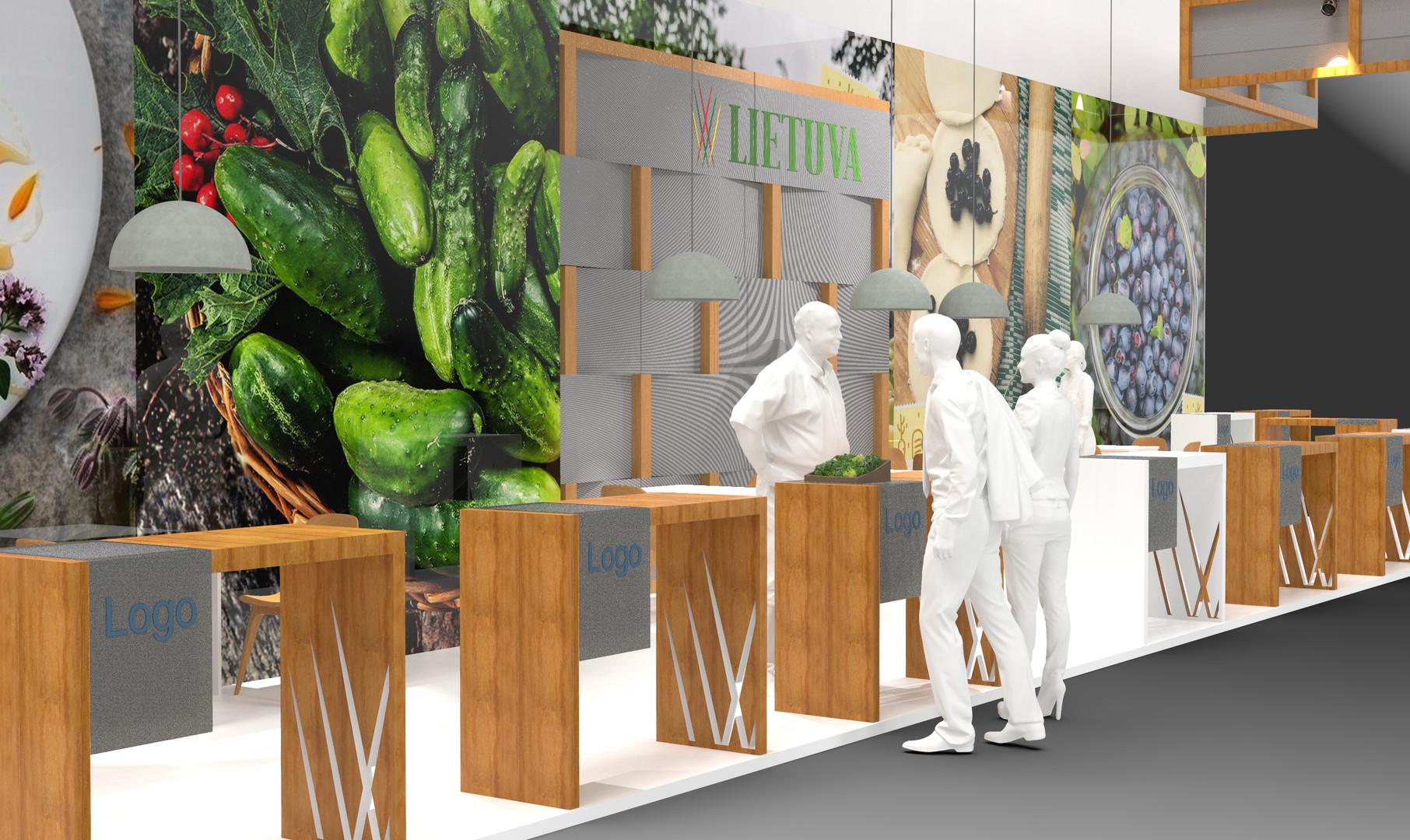 Exhibition space rendering