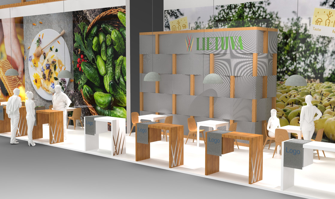 Agriculture trade fair stand