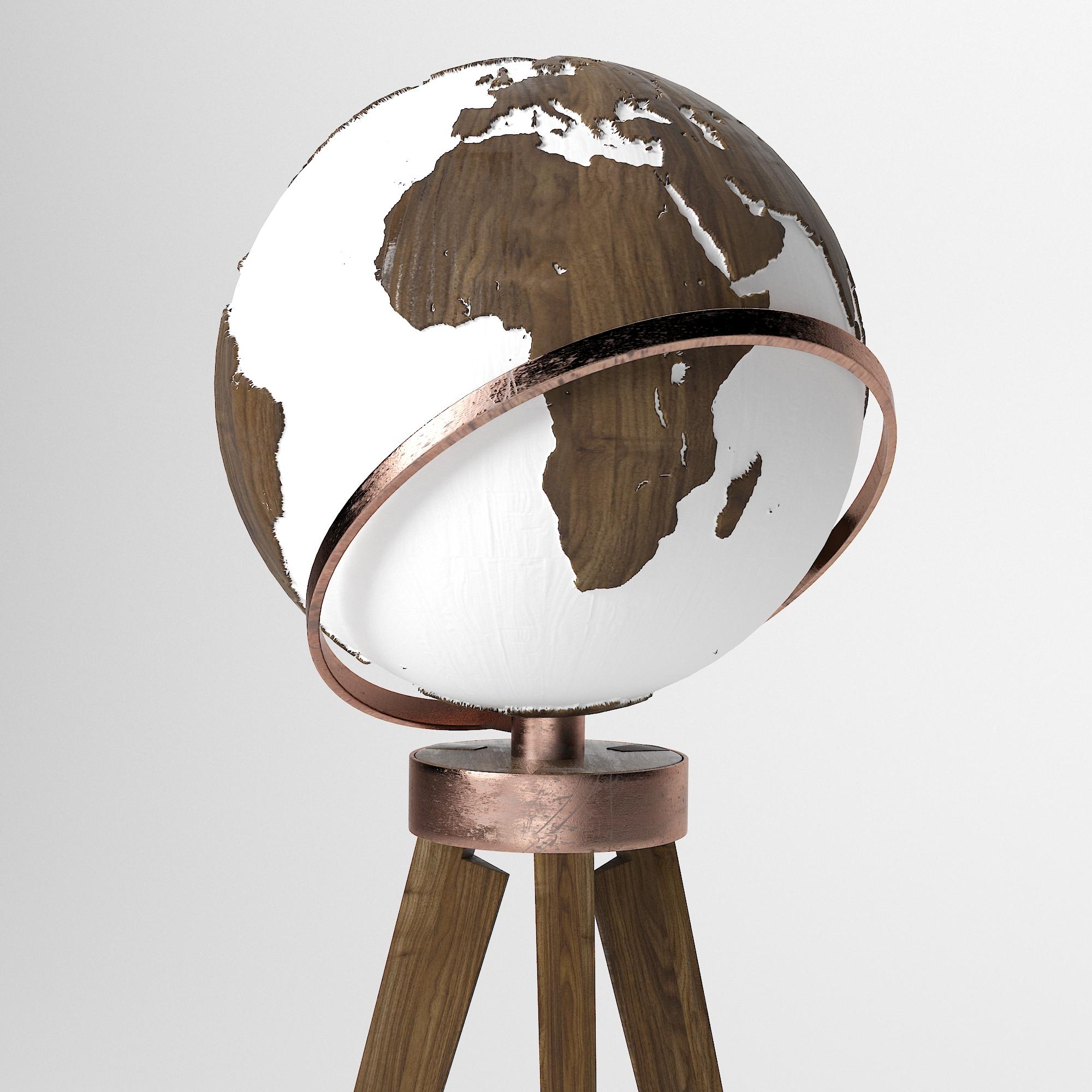 Globe - Walnut Copper